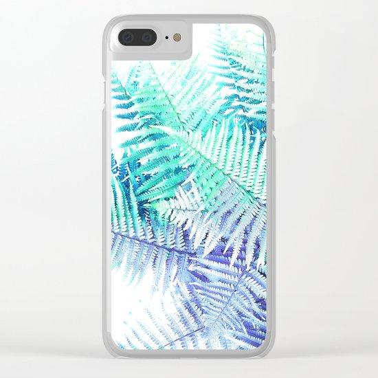 Wild Fern Jungle Clear iPhone Case