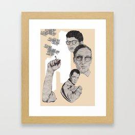 Burroughs, Ginsberg and Kerouac Framed Art Print