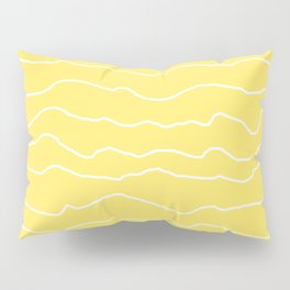 Yellow with White Squiggly Lines Pillow Sham