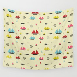 Boats Wall Tapestry