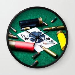 Risky gambling Wall Clock