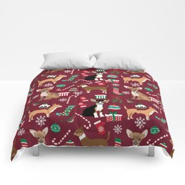 Chihuahua christmas presents dog breed stockings candy canes mittens Comforters