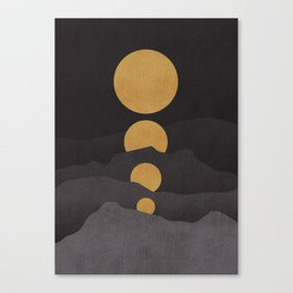 Rise of the golden moon Canvas Print