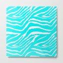 Zebra Animal Print Blue and White by saundramyles