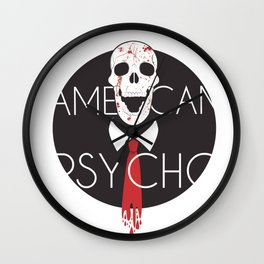 American Psycho-White Background Wall Clock