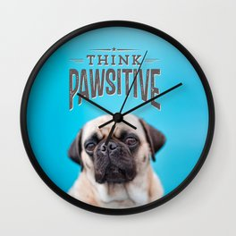think PAWsitive Wall Clock
