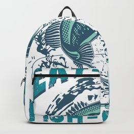 Eat Sleep Fish Repeat Fisherman FIshing Backpack