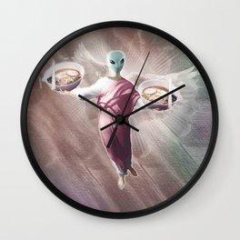 Ramen Alien Jesus Wall Clock