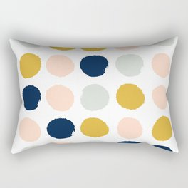 Dot minimal trendy color palette gold silver metallic minimal home decor Rectangular Pillow