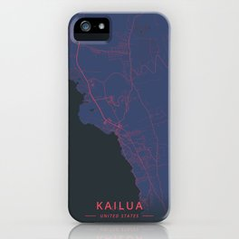 Kailua, United States - Neon iPhone Case