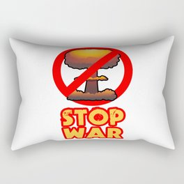 STOP WAR No Bomb Sign Rectangular Pillow