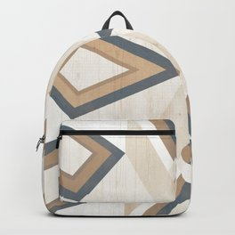 >> Brown and Gray Tribal on Wood >> Backpack