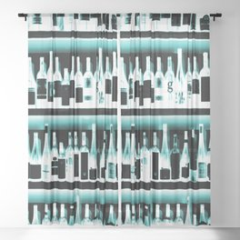 Wine Bottles - version 2 #decor #buyart #society6 Sheer Curtain