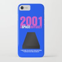 2001 a space odyssey iPhone & iPod Cases featuring 2001: A Space Odyssey Movie Poster by FunnyFaceArt