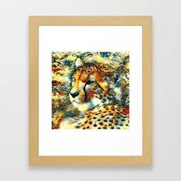 AnimalArt_Cheetah_20170603_by_JAMColorsSpecial Framed Art Print