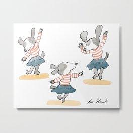 Dancing Dog  Metal Print