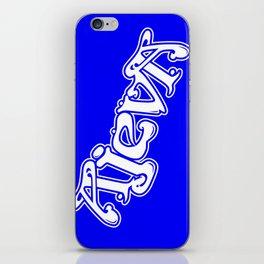Ajeva Logo 2 Blue iPhone Skin