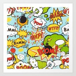Modern Happy Pop-art Pattern Art Print