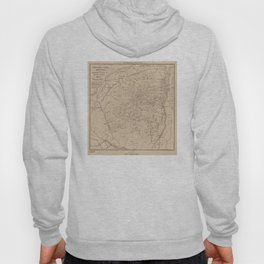 Vintage Map of The Adirondack Mountains (1874) Hoody