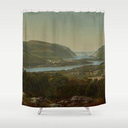 David Johnson - View from Garrison, West Point, New York Shower Curtain