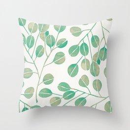 Silver Dollar Eucalyptus – Mint Palette Throw Pillow