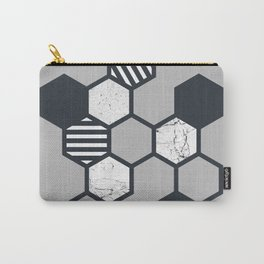 Marble Hex (Grey) Carry-All Pouch