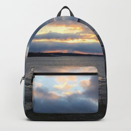 Perfect Sunset over Half Moon Cove Backpack