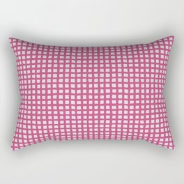 Pink on Pink Graphic Netting Rectangular Pillow