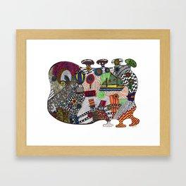 Homage to Hundertwasser Framed Art Print