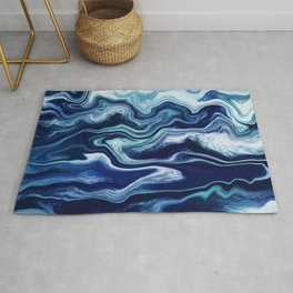 Liquid Color Colorful Marble 32 Rug