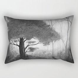 The Dark Forest (B&W) Rectangular Pillow