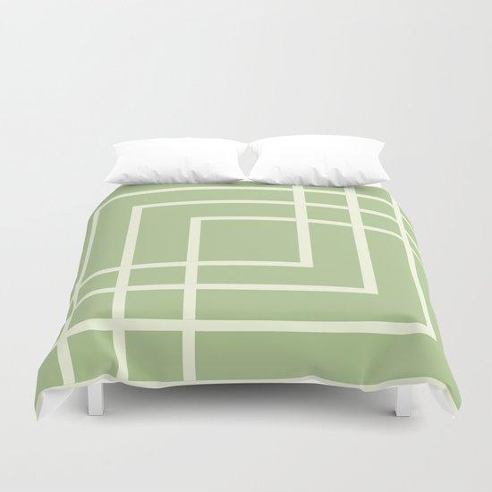 Square - green Duvet Cover