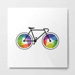 Geometric Bicycle Metal Print