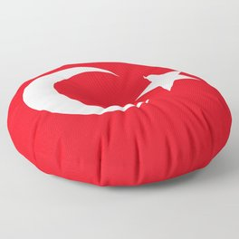 National flag of Turkey, Authentic color & scale Floor Pillow