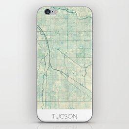 Tucson Map Blue Vintage iPhone Skin