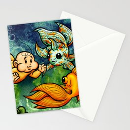 Swimming with the Fishies Stationery Cards