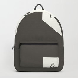 Nevada is Home - White on Charcoal Backpack