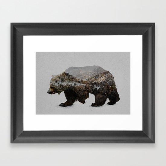 The Kodiak Brown Bear Framed Art Print