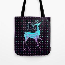 Deer REINDEER BLUE Tote Bag
