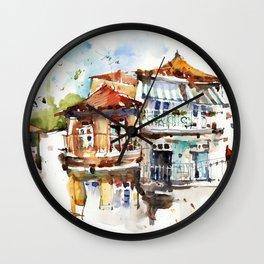 Windows of Porto Wall Clock