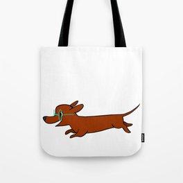 dacshund glasses Tote Bag