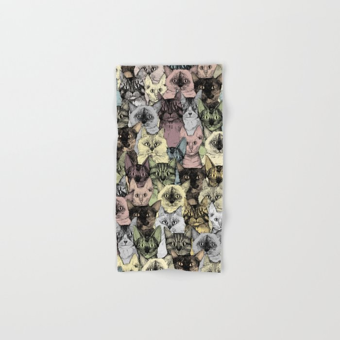 just cats retro Hand & Bath Towel