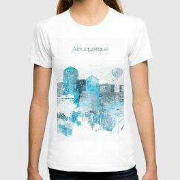 Albuquerque Monochrome Blue Skyline T-shirt
