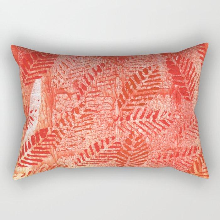 Bright red leaves Rectangular Pillow