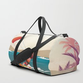 Kite surfer Woman Theme Duffle Bag