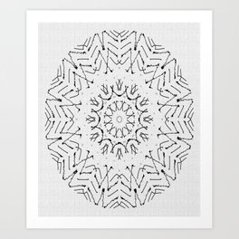 THE BLACK-AND-WHITE GROOVE Art Print