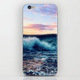 Waves Crashing At Sunset iPhone Skin