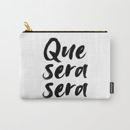 Que sera sera, French Quote, Home Decor, Wall Art, French Poster Carry-All Pouch