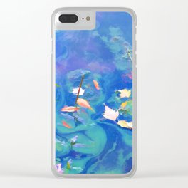 Autumn leaves on water 2 Clear iPhone Case