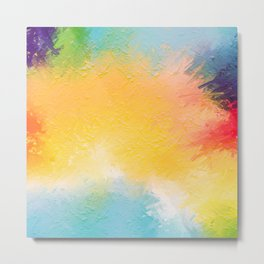 Modern Multi Color Abstract Metal Print